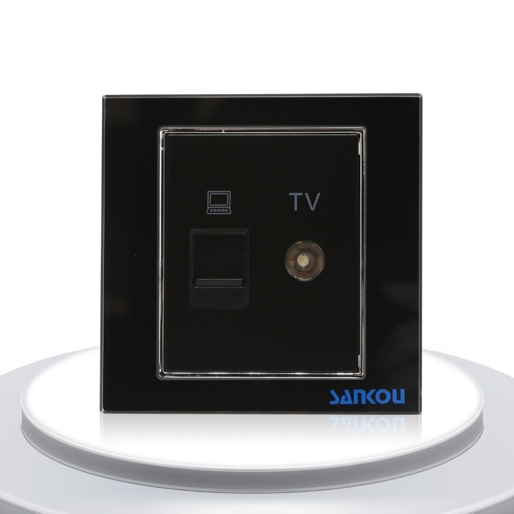 medium resolution of cnskou luxury design nodon tv and lan computer wall socket mirror glass television and computer
