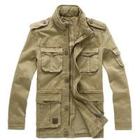 Plus Size M 5XL 2015 Winter Denim Jacket Men Outdoors Casual 100 Cotton Parka Military Coat