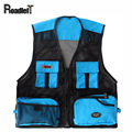 Male journalist reporter photography mesh vest Men's many pockets sleeveless jacket waistcoat