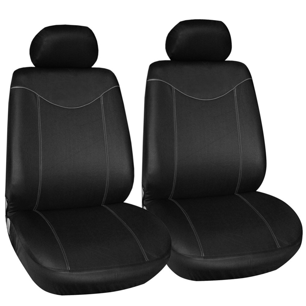 Wondrous 2Pcs Front Seat Cover Universal For Cars Simple Protective Seats Car Covers Black Automotive Interior Decoration Pabps2019 Chair Design Images Pabps2019Com