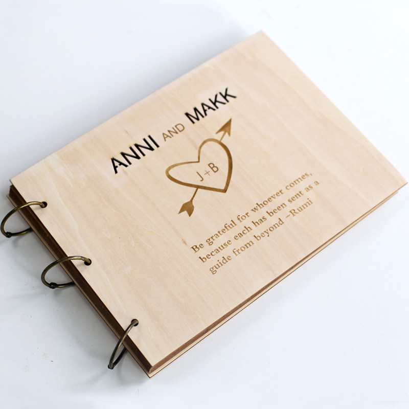Aliexpress  Buy Personalized Wedding guest book, Love Rustic