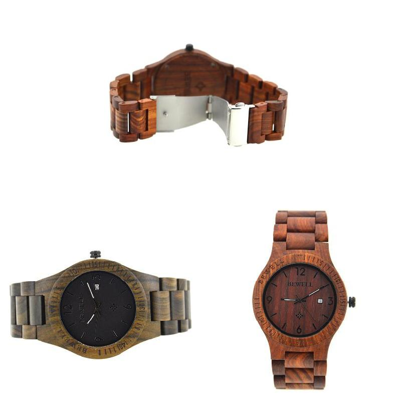 Simple Fashion Men Watches Wooden Strap Quartz Watch Wood Band Clock Man Casual Wristwatch High Quality LL@17 watches men shock resistant wood watch nature wooden strap with roman numerals classical quartz men watch wrist male clock man
