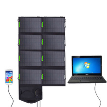 For emergency power supply 28W 19V,18V,5V Solar Energy Charger with Monocrystal silicon Panel USB,DC 5.5 Ports