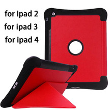 Tablet Cover For Apple ipad 2 3 4 Case Anti Dust Hard PC TPU Hybrid Coque With Stand 9.7 inch Cover Cases For ipad 4 3 2