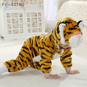Image 2 - Tiger Kigurumis For Baby Animal Cosplay Costume Child Kid Boy Girl Onesie Winter Autumn Soft Pajama Fancy Infant Cute Sleep Suit