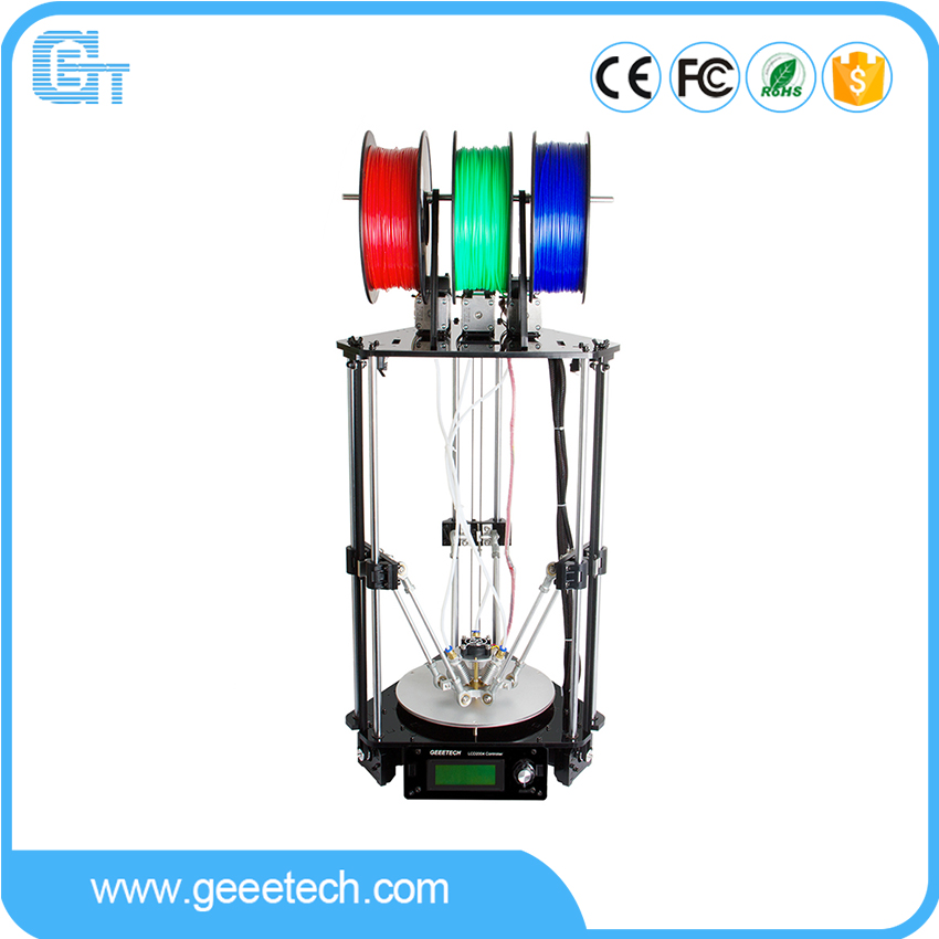 Geeetech Rostock 301 3D Printer 3-in-1-out Extruder Delta Newest Design Diamond High Resolution Impressora delta d 803 1