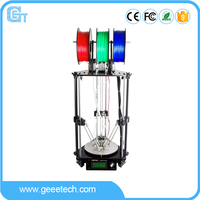 Geeetech Rostock 301 3D Printer 3 in 1 out Extruder Delta Newest Design Diamond High Resolution Impressora