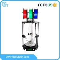 Geeetech Rostock 301 3D Printer 3 in 1 out Extruder Delta Newest Design Diamond High Resolution Impressora