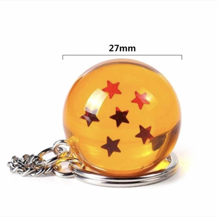 2.7X2.7cm 7 1-7Star De Cristal Bola Dragão Z Figura Bola Dragão Meninos Toy PVC Modelo Coleção Anime Kid brinquedo Do Carro Chaveiro Pingente