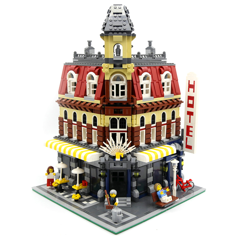 LEPIN 15002 Streetview Series 2133pcs Cafe Corner Model Building Kits Building Block Bricks set Toys For children Legoing 10182 lepin 24020 creative series features robo explorer set 31062 model building kits block bricks toys gift for children