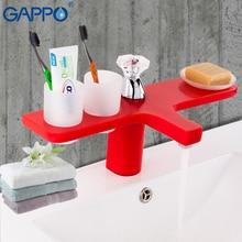 GAPPO red Basin faucet bathroom mixer brass basin mixer tap faucet water sink mixer deck mount water tap