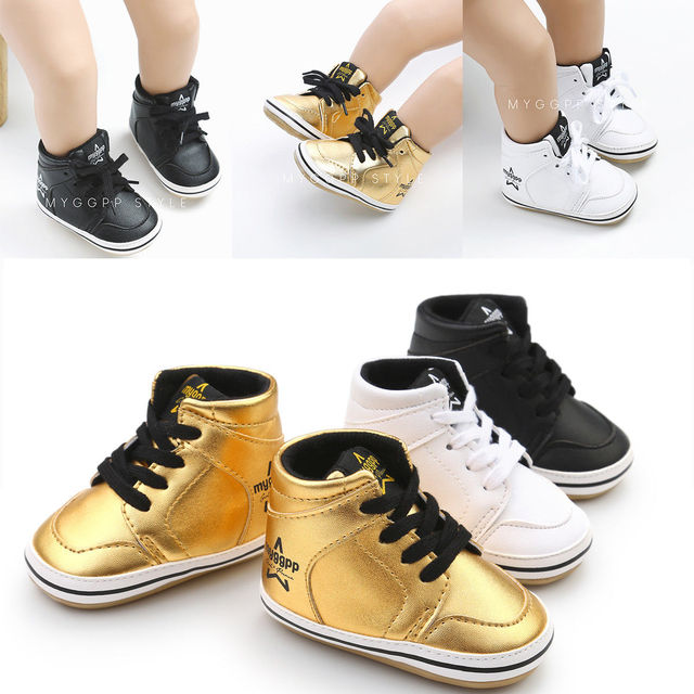 0-18M Newborn Baby Boys Girls Fashion Casual Pre Walker Leather Soft Sole Lace Up Baby Shoes 3 Style
