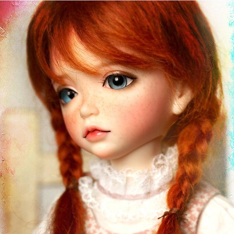 1/6 muñeca BJD Lonnie de moda con Fleckles encantadora muñeca para regalo de cumpleaños de niña bebé envío gratis-in Muñecas from Juguetes y pasatiempos    1