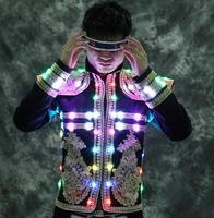 Свет обслуживание костюмы для сцены быков костюм световой костюм бар ночной рынок симфония Производительность лазерной обслуживание
