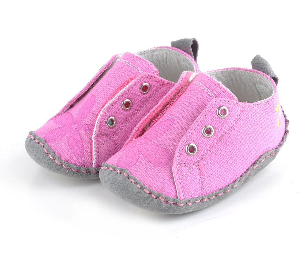 Baby Shoes Baby Kids Girls Heart-shaped Embroidered Cotton Fabric Elastic Band Shoes Elastic Band Polka Dot Printing First Walker Shoes Mother & Kids