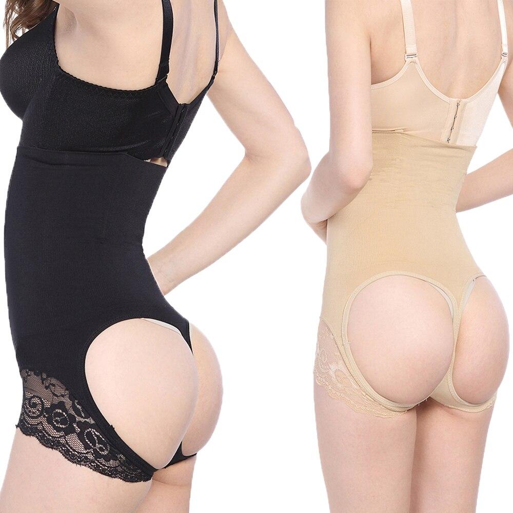 36060dddcf KSKshape 2016 New Sexy Hi-waist Lace Steel Boned Shapewear Seamless Butt  lifter Waist Control Tummy Control Body Shaper Thigh Sl