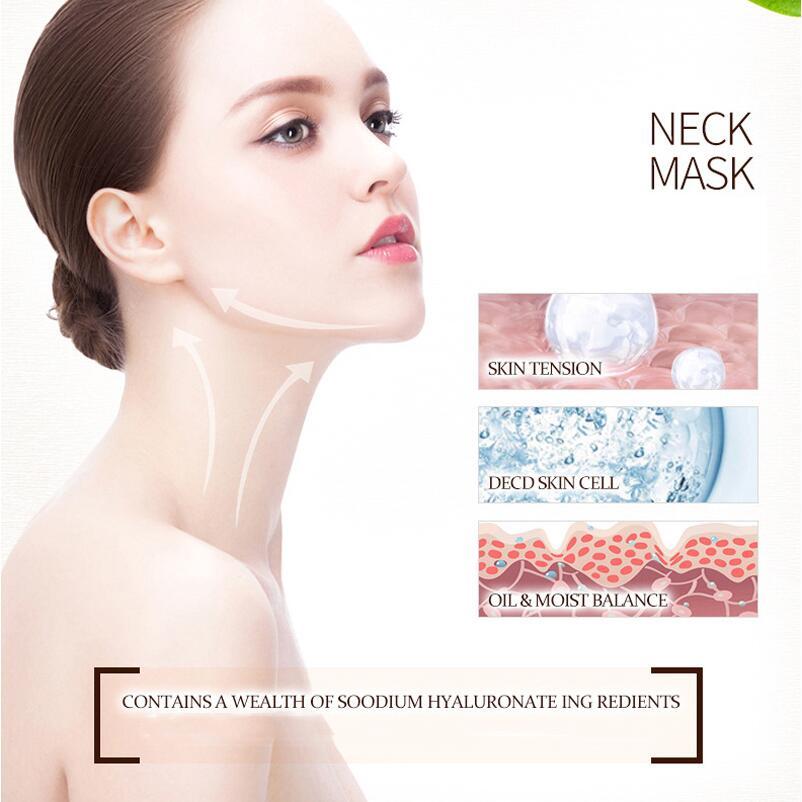 โรงงานราคา! 100 pcs BIOAQUA Hyaluronic Acid คอหน้ากากยกกระชับ Moisturizing Whitening Mask Silk Smooth Beauty Skin Care-ใน คอ จาก ความงามและสุขภาพ บน   2