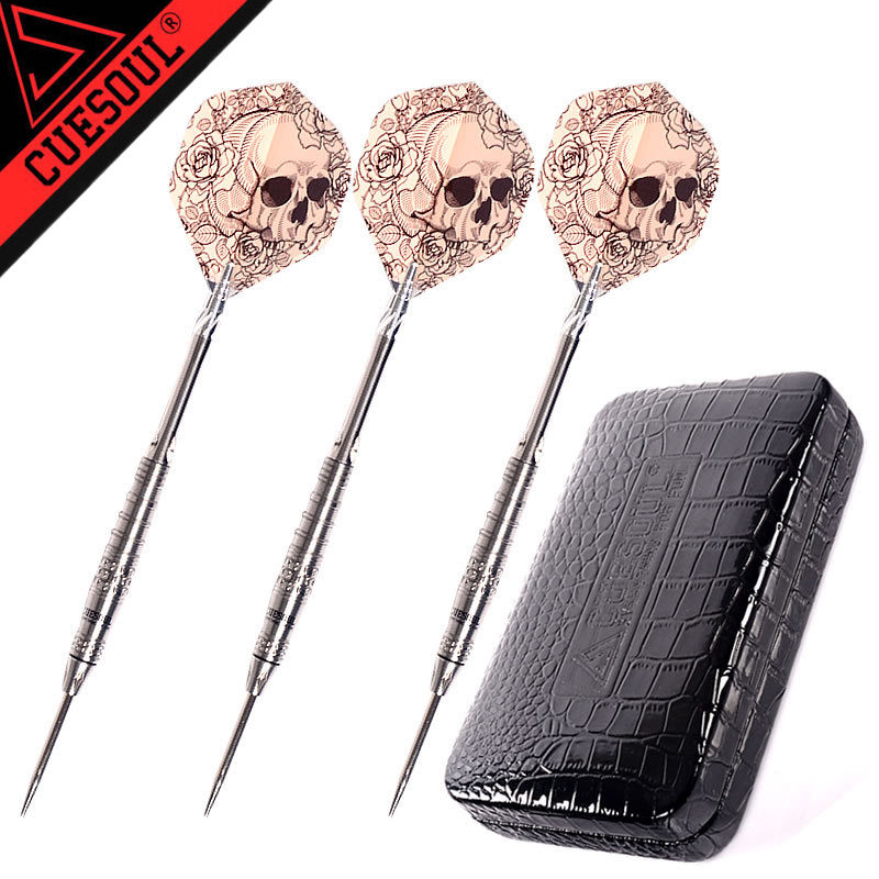 New CUESOUL 3pcs/set Steel Darts 15cm 23.5g Professional Tungsten Steel Tip Darts With Nice Box cuesoul tungsten steel tip darts 23g 145mm 3pcs set with 90