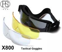 New USMC Airsoft Sport Gafas X800 Tactical Sunglasses Glasses Goggles Mountain Bike Goggles GX1000 Black Frame 3 Lens Per Set