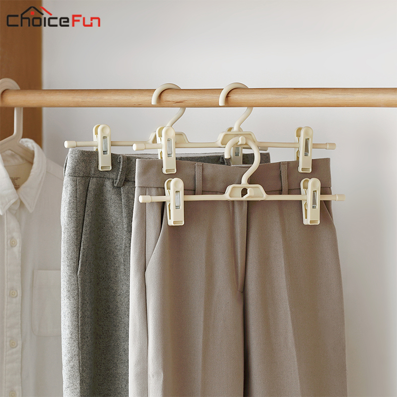CHOICEFUN Plastic Adjustable Closet Organizer Clothes Trousers Clip Hanger  Non Slip Stackable Space Saver Pants Hanger With Clip In Hangers U0026 Racks  From ...