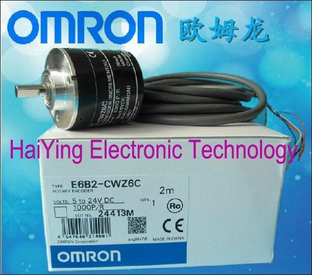 New and original  E6B2-CWZ6C   1000P/R   OMRON  Incremental rotary encoder  Photoelectric rotary encoder    5-24VDC e6a2 cs5c 50p r rotary encoder new e6a2cs5c 50p r 50pr compact size e6a2 cs5c