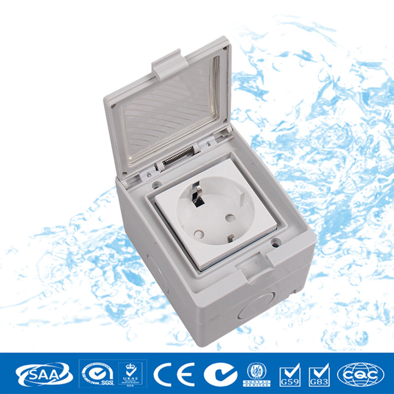 Free Shipping Eu Wall Socket One Position Box Wall Mount