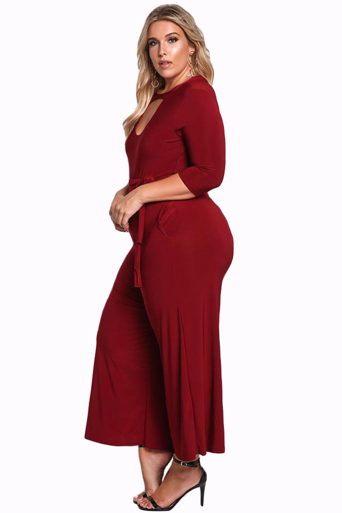 Red-Plus-Size-Cut-Out-Wide-Legged-Jumpsuit-LC64344-3-3