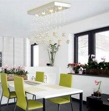 Estilo chino K9 Cristal llevó la iluminación de la Cocina de techo de cristal claro Gu10 led spot light Lamparas luces Bar comedor De Techo
