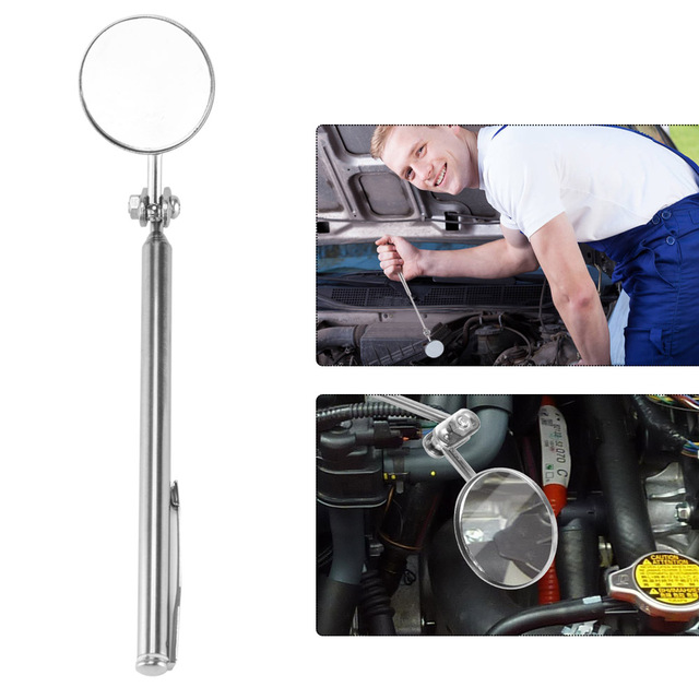 Car Telescopic Detection Lens Automotive Telescoping Inspection Round Mirror Extending Car Angle View Pen Tool