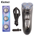 Kemei Male Shaving Machine 2016 New Men 3D Rechargeable Mens Electric Shaver 3 head shaver razor for Beard Hair Face Care