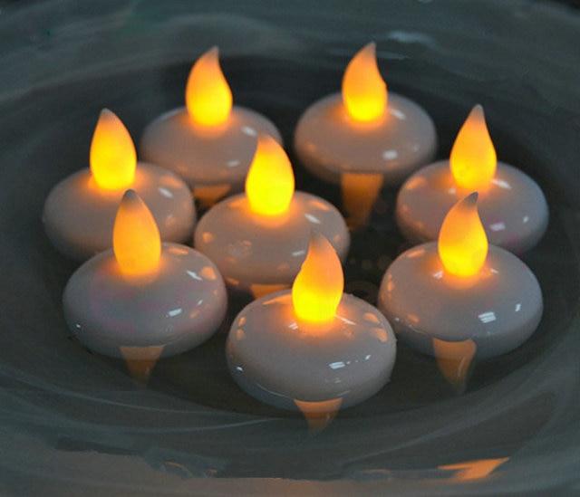 240pcs Lot Flameless Led Floating Tealight Candle Lamp Battery Operated Wedding Xmas Holiday Party