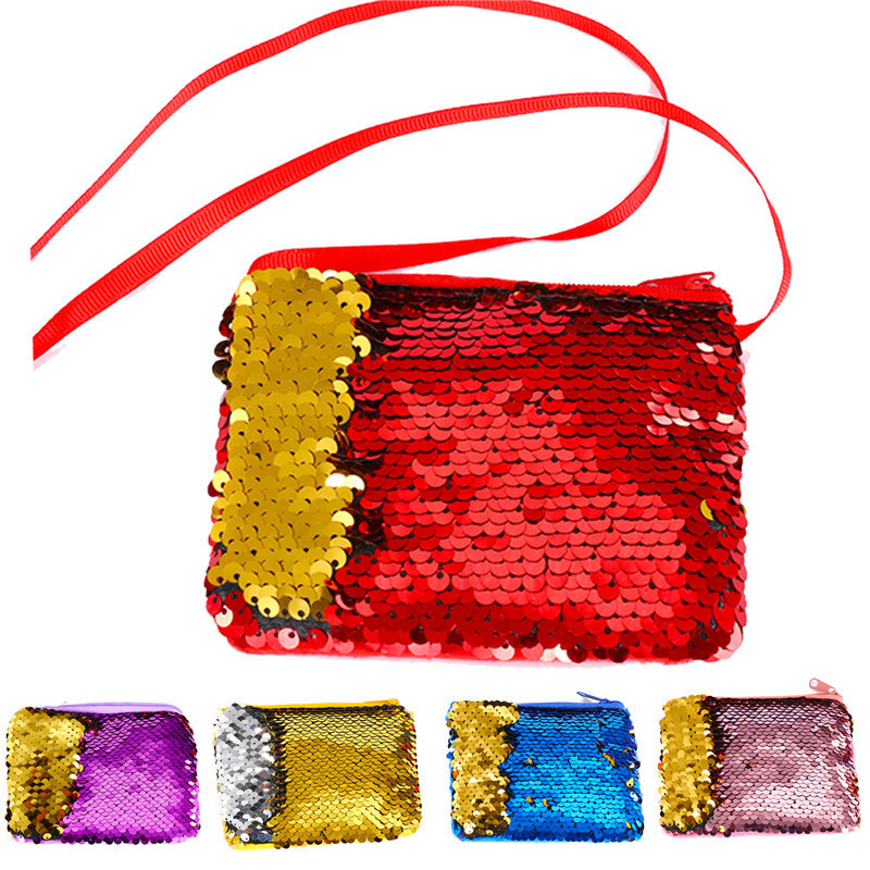 Women Square Sequins Coin Purse Pocket Sling Money Change Purse Hanging Card Holder Wallet Bags Pouch For Kids Gifts 2017 purse wallet big capacity female famous brand card holders cellphone pocket gifts for women money bag clutch passport bags