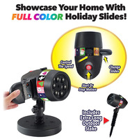 Star Projector Light +12 Full Color Slides for Xmas Halloween Holiday Party M25