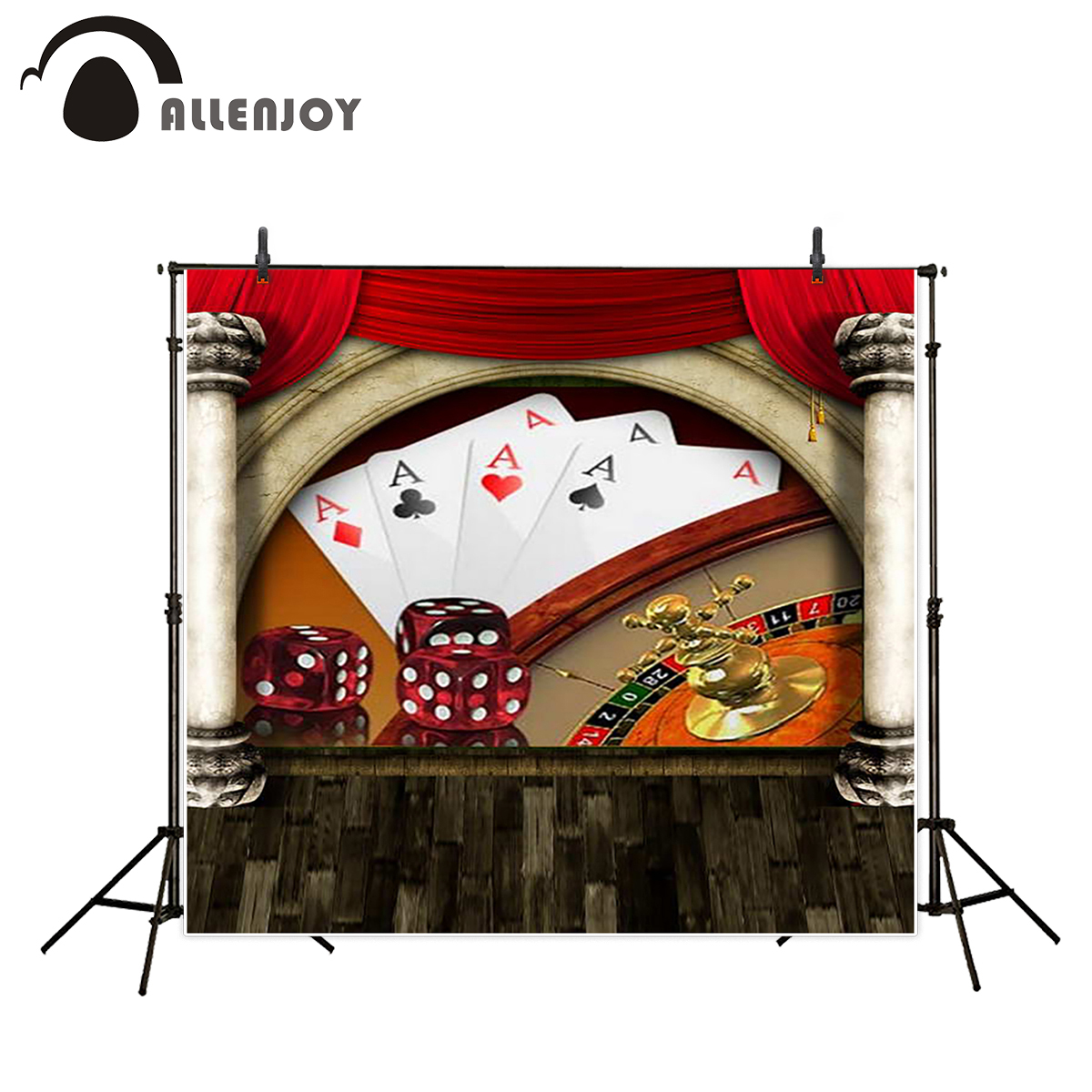 Allenjoy background photography casino playing card dice backgrounds photo studio photo printer professional backdrop allenjoy backdrop background wonderland