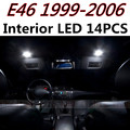 Cheetah 14pcs X free shipping Error Free LED Interior Light Kit Package for BMW E46 M3 accessories 1999-2006