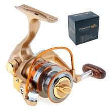 Yumoshi 12+1 Ball Bearing 5.2:1 Mini Palm Size Spinning Fishing Reel High Speed Metal Coil Poket Small Wheel