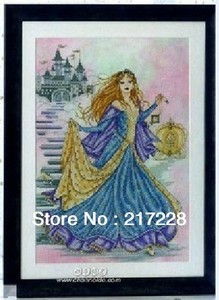 Image 1 - 14CT Kruissteken Prinses Cinderella, Joan Elliott collection 42*51 cm CS 079WM