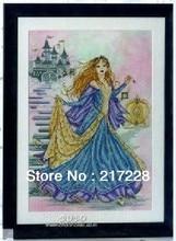 14CT Çapraz Dikiş Prenses Külkedisi, Joan Elliott koleksiyonu 42*51 cm CS 079WM