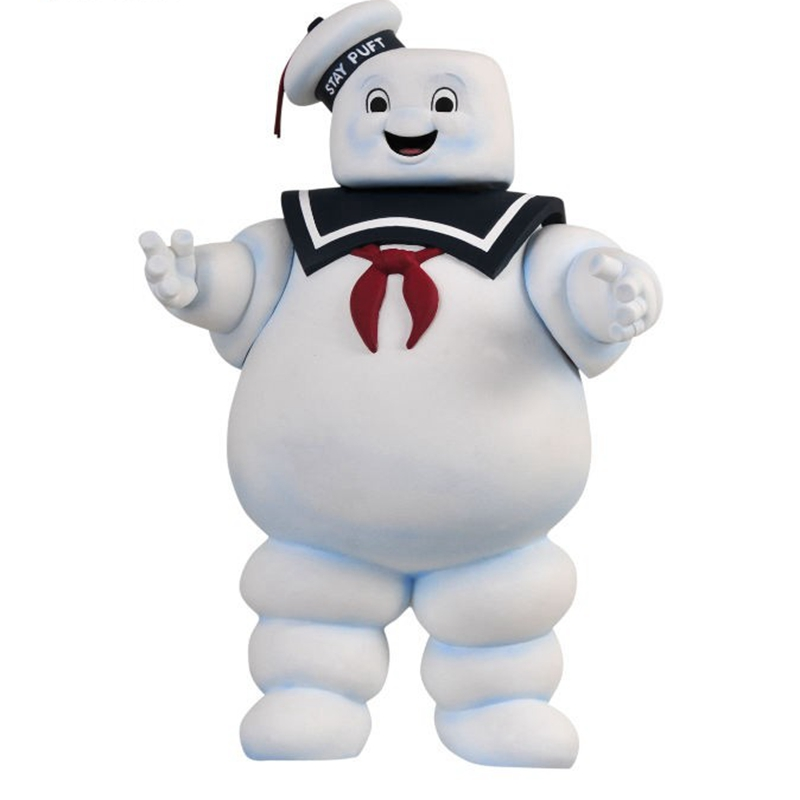 28cm Vintage Ghostbusters Stay Puft Marshmallow Man Bank Sailor POP Action Figure Toy For Kids