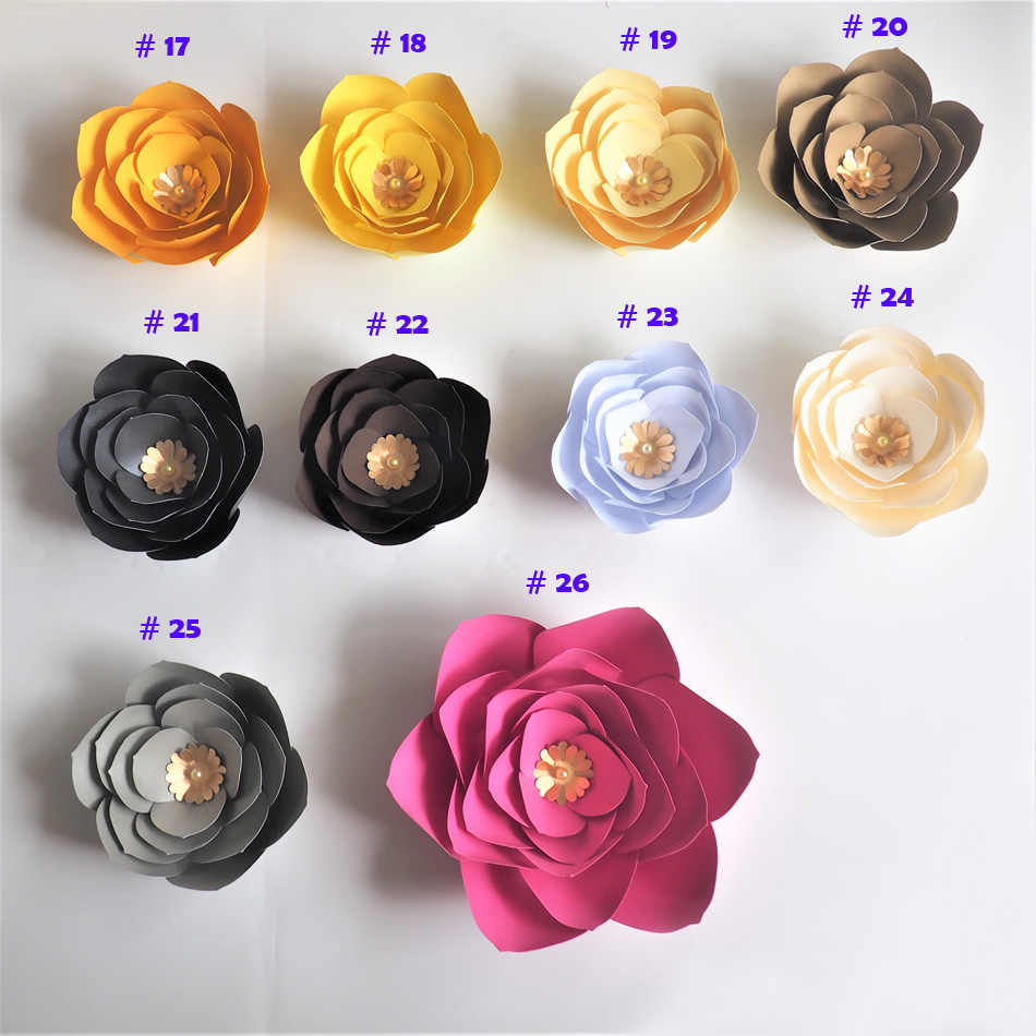 15cm 45cm Cardstock Rose Diy Paper Flowers For Wedding Event Backdrops Decorations Baby Nursery Wall Decor Video Tutorials