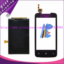 Original tested A390 LCD Display For Lenovo A390 LCD Touch Screen Digitizer with logo tools Tracking