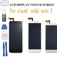 Free Shipping Original Xiaomi Redmi Note 3 LCD Screen FHD 1920X1080 Lcd Display Touch Panel