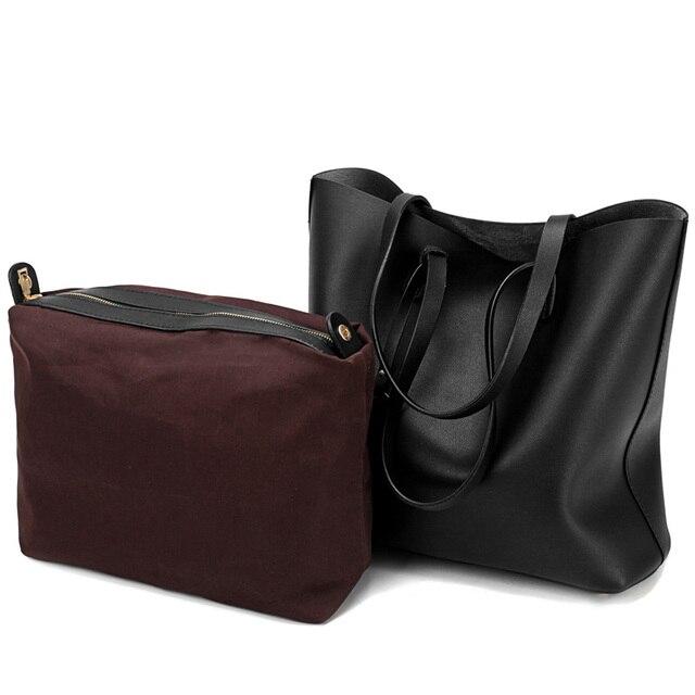 Women's PU Leather Tote Bag - Handbag With Purse Pocket Women Shoulder Large Tote Bag 4