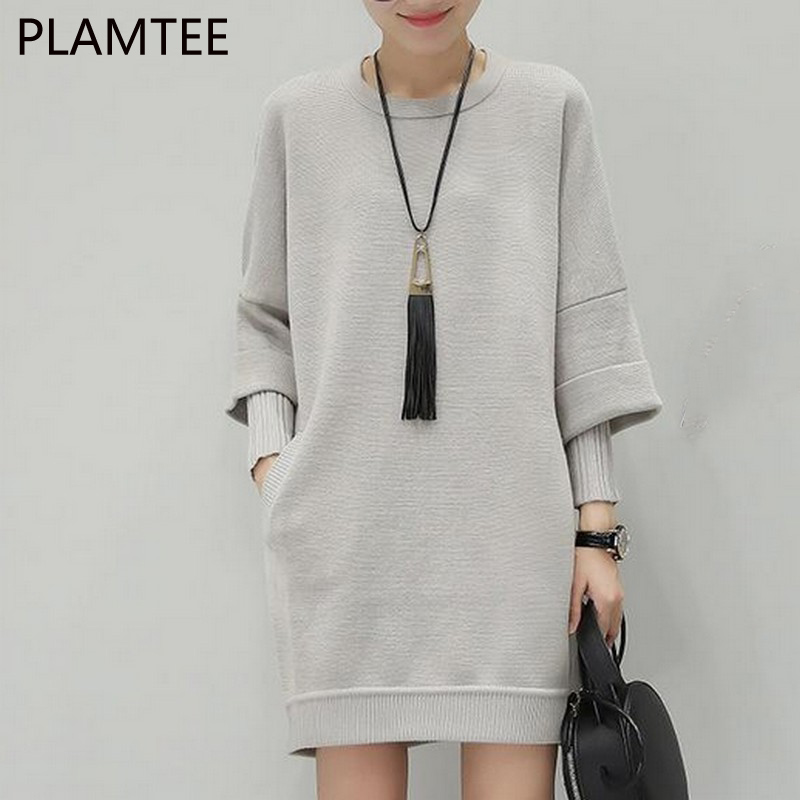 PLAMTEE 2017 Knitted Maternity Sweater Autumn And Winter New Loose Fake Two Pieces Pregnancy Pullover Clothes For Pregnant Women maternity clothes fall pregnant women sweater knitting dress autumn winter knitted female loose warm pullover cute lady dresses
