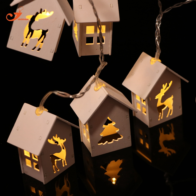 Christmas led Light Decor Snowman Xmas Decoration Deer Tree Wood Party lights for kid Christmas light battery Patio light global