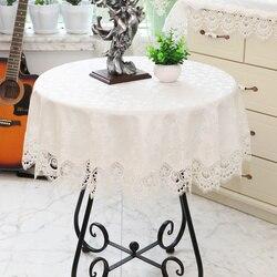 Branco laço toalha de mesa redonda ouro rosa toalha de mesa moderna mesa café cobrir jantar luxo festa aniversário placemat e3