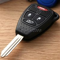 4 Button Uncut Blade Car Key Case Blank Car Auto Key Shell Remote Keyless Entry Combo