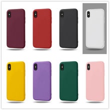 Para iphone 8 plus funda de lujo para chicas para iphone 6 S 7 plus 8 XS MAX X XR Simple cubierta trasera de TPU suave Coque(China)