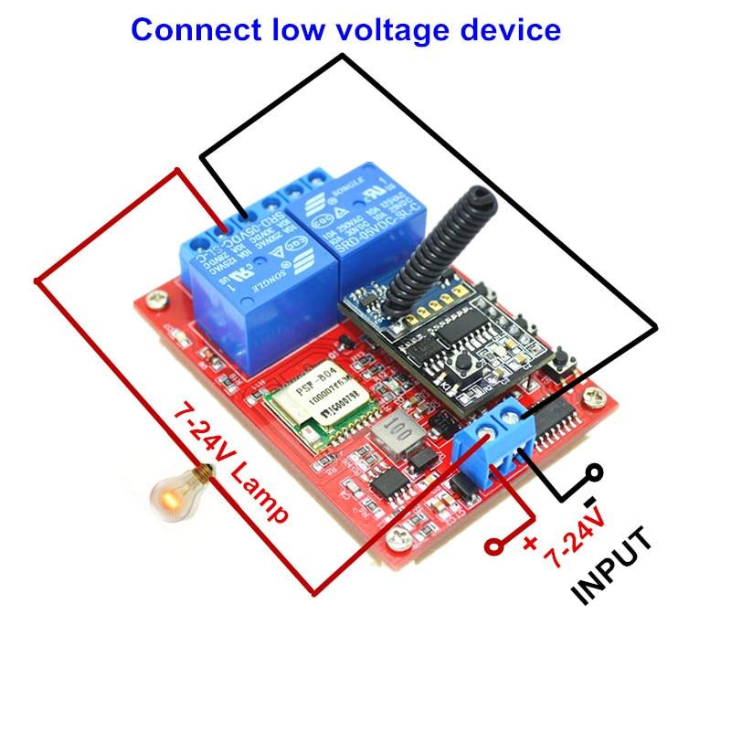 xind ele rf wifi switch 2ch 7v 12v 24v dc 10a smart home light
