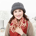 Lady Knitted Wool Hat Female Korean Autumn and Winter Warm Hat Mother Fashion Fisherman Hat Dome Cap Promotion B-4354